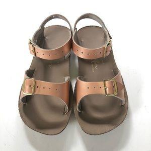 Girls Saltwater Sandals Sand & Sun Size 10